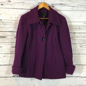 Apostrophe Wool Purple Pea Coat size XL